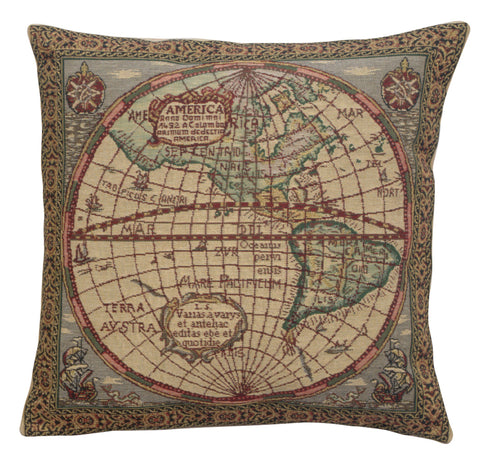 Map of the West Belgian Cushion Cover