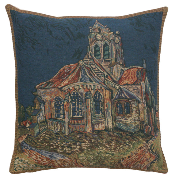 The Church of Auvers Belgian Cushion Cover