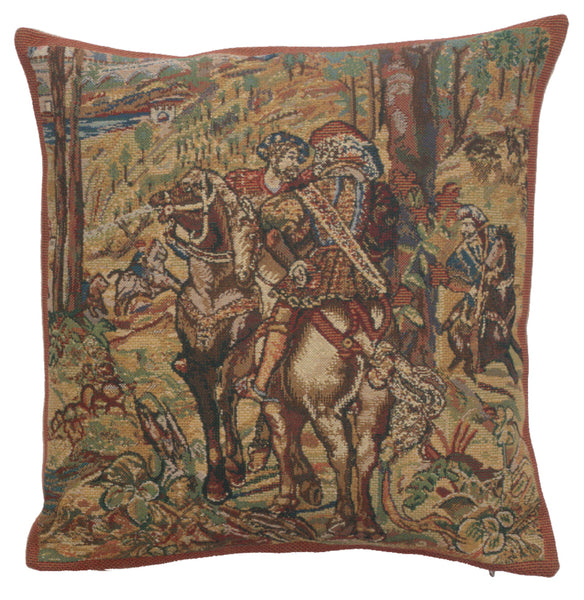 Vieux Brussels II Belgian Tapestry Decorative  Cushion Cover