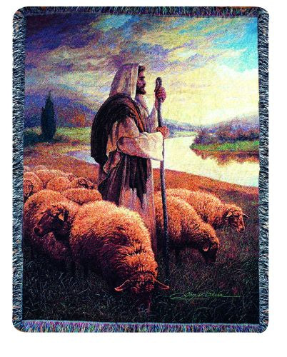Good Shepherd II Tapestry Throw