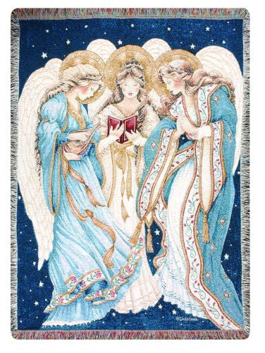 Three Angels I Tapestry Throw