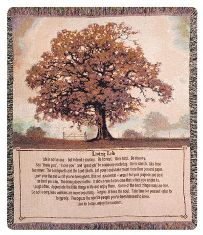 Living life Tapestry Throw