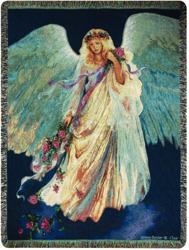 Messenger of Love Angel Tapestry Throw