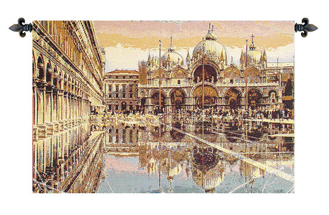 Alta Marea in Piazza San Marco Italian Tapestry Wallhanging