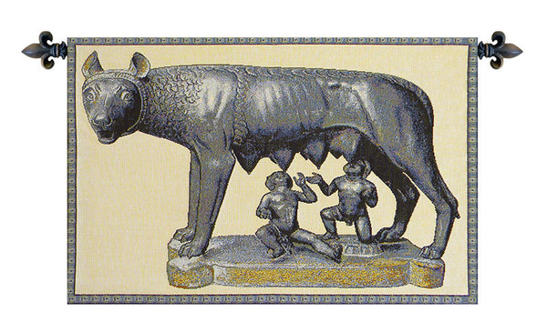 Lupa Capitolina Italian Tapestry Wallhanging