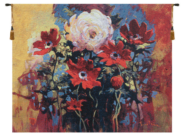 Bouquet by Simon Bull  Belgian Tapestry Wall Hanging