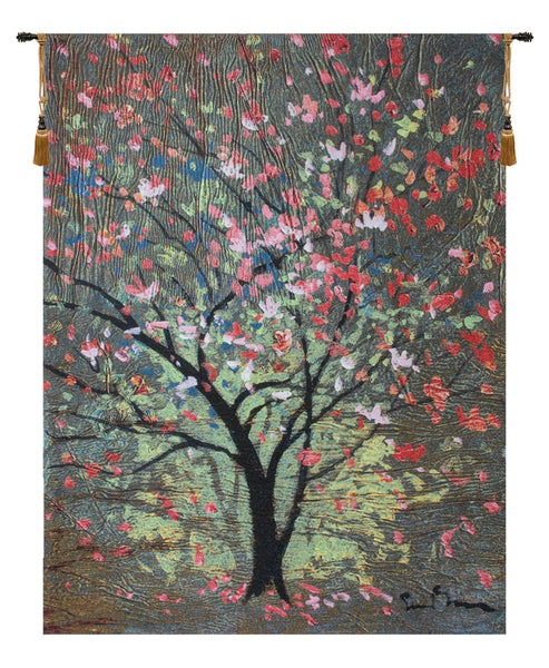 Hopefull Tree by Simon Bull  Belgian Tapestry Wall Hanging