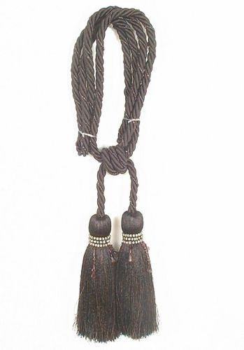 Milano Black Tapestry  Decorative Tassels