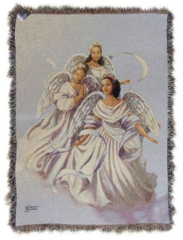 Angelic Trio II Tapestry Throw