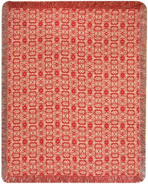 Cardinals and Birdhouses Tapestry Throw