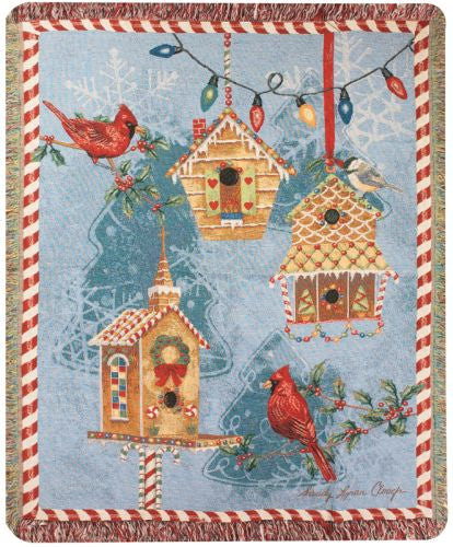 Gingerbread Garden I Tapestry Throw