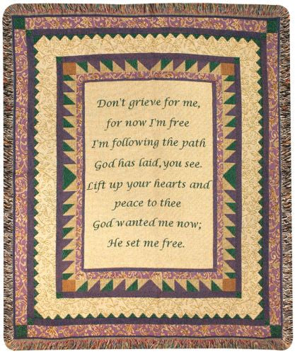 Grandmother Poem Tapestry Throw