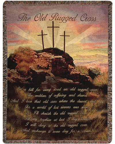 Old Rugged Cross II Tapestry Throw
