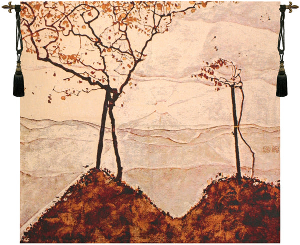 Autumn Sun and Trees Fine Art Tapestry
