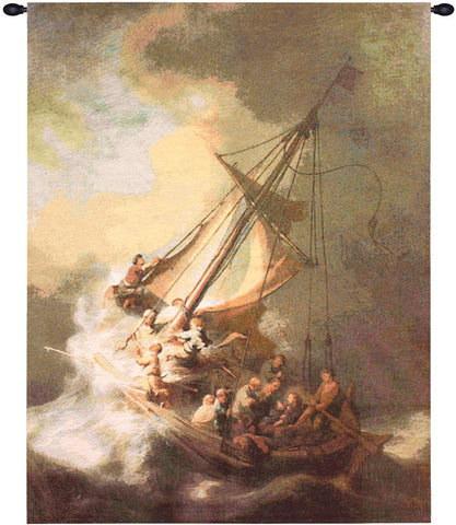 Christ in the Storm Fine Art Tapestry
