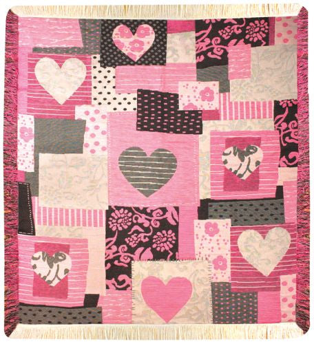 Heart of Hearts Tapestry Throw
