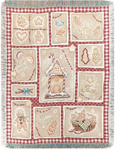 Gingerbread Kitchen Tapestry Throw