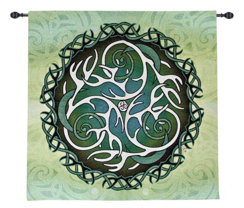 Celtic Antlers and Moon Fine Art Tapestry
