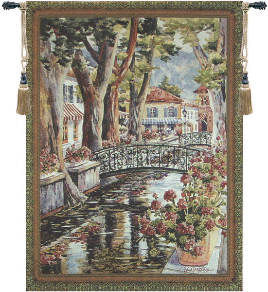 French Village Tapestry Wall Art
