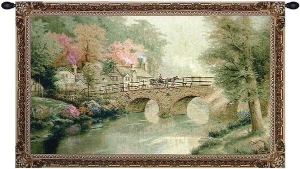 Hometown Bridge Tapestry Wall Art