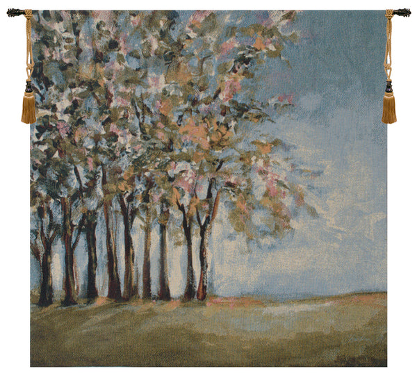 Tree in Spring Fine Art Tapestry