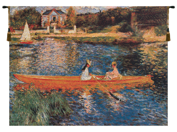 Seine at Asnie'res Belgian Tapestry Wall Hanging