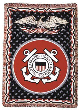Coast Guard full-size 3 layer  Tapestry Throw