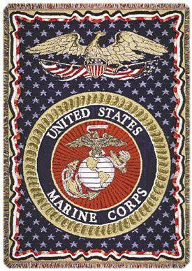 U.S. Marines full-size 3 layer Tapestry Throw