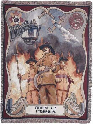 Fire Fighter full size  Tapestry Throw