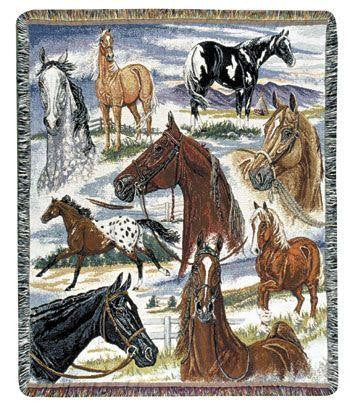 Horse Sense I Tapestry Throw