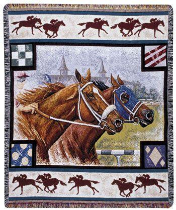 Day at the Races Tapestry Throw