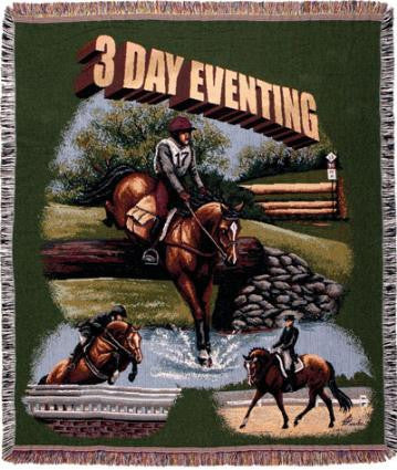 3-Day Eventing  Tapestry Throw