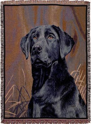 Black Lab I Tapestry Throw