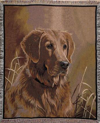 Golden Retriever I Tapestry Throw