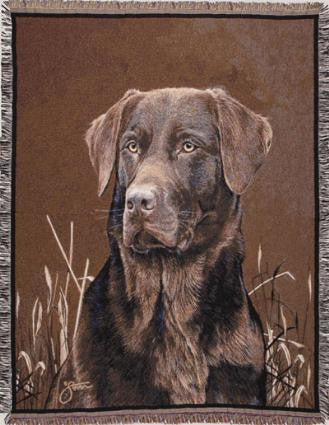 Chocolate Lab I Tapestry Throw