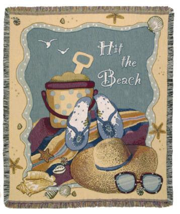 Hit the Beach Tapestry Throw