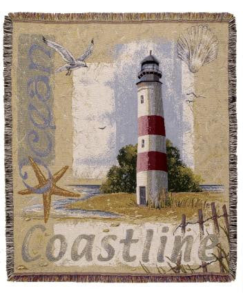 Coastline  Tapestry Throw