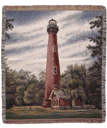Currituck Lighthouse  Tapestry Throw