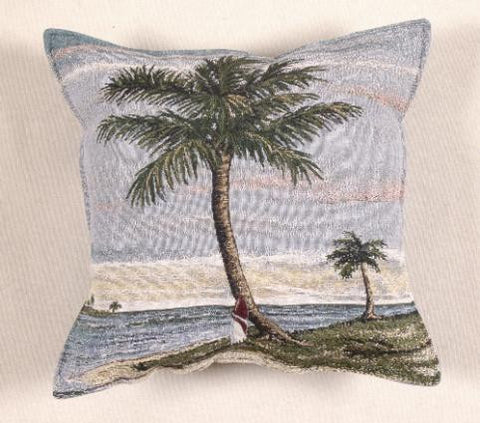 Tropical Palm Pillow Tapestry Panel