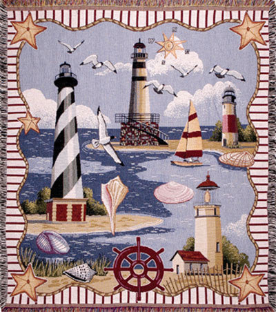 Coastal Memories  Tapestry Throw