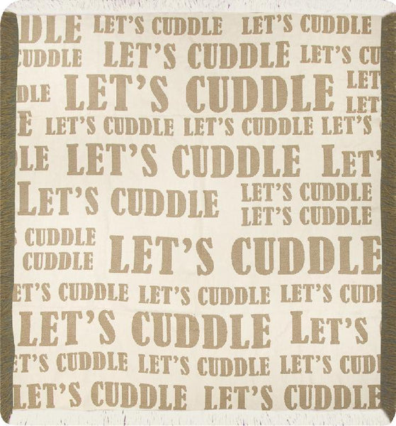 Let's Cuddle Tapestry Throw