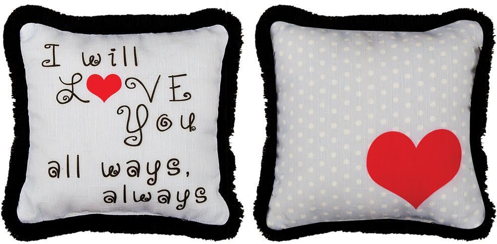 I Will Love you All Ways Pillow Tapestry Cushion Cover