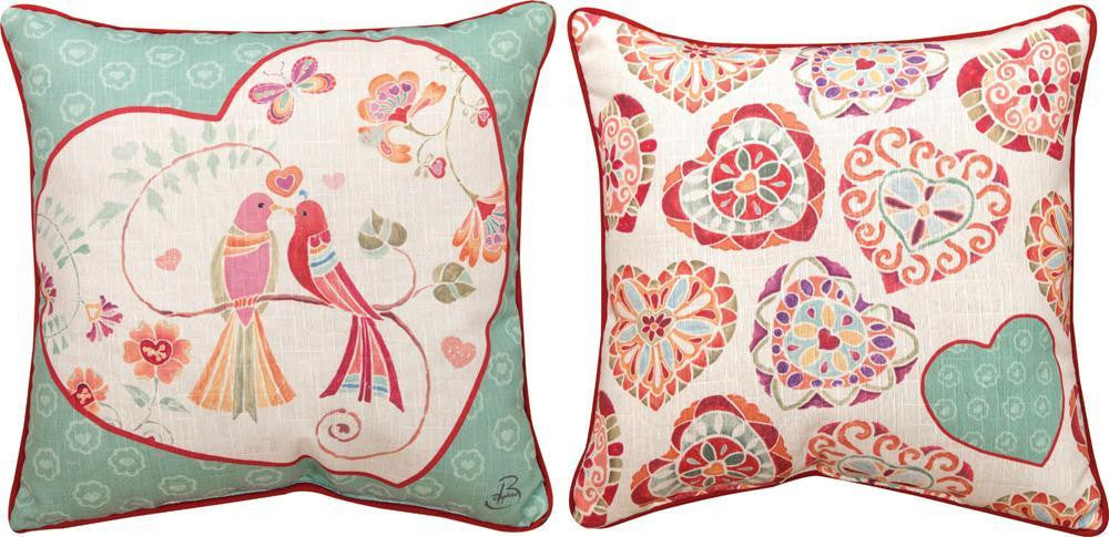 Love Birds Pillow Tapestry Cushion Cover