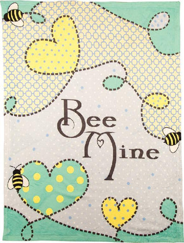 Bee Mine Coral  Tapestry Throw