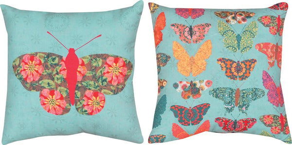 Butterfly kaleidoscope climaweave  Tapestry Cushion Cover