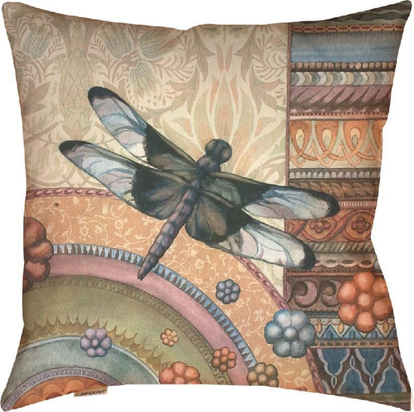 Dragonfly garden climaweave  Tapestry Cushion Cover
