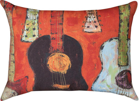 strung up (guitars) climaweave  Tapestry Cushion Cover