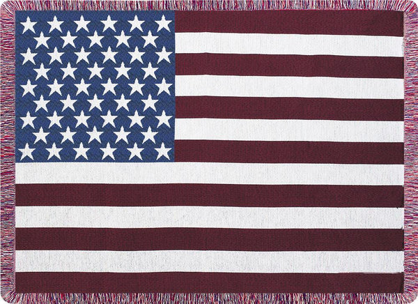 Stars and Stripes Tapestry Throw
