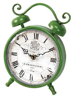 Flower Market Rise and Shine Green Clock