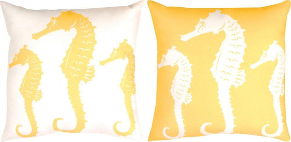 Nautical Nonsense Seahorse Climaweave Tapestry Cushion Cover